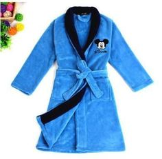 Boys Mickey & Girls Hello Kitty Cotton Robes, Sizes 4T up to 16