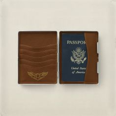 Yellow Vintage Rooster Decor Leather Passport Holder Cover Case Blocking Travel Wallet