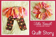 Jelly Roll Tu-Tu ~ adorable no sew project