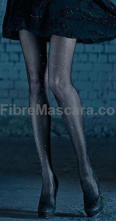Polka Dots Print Sheer Tights Black  Silver Stones 1 #pantyhose #sexy #ladies #women #ladyproducts #lush #smooth #fashion #stunning #legs #glamour