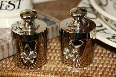 Salz und Pfeffer Streuer Nickel Lilie Exklusiv Edel Klassisch
