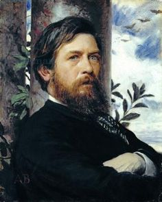 Bocklin's self-portrait - a gift for his wife - this Swiss symbolist was influenced by the Pre-Raphaelite movement.