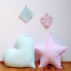 #pillows #star #cloud #pastels #kids