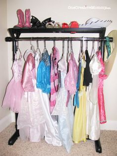 Probably the one I will go with because its easiest. #DIY #Dress Up #Storage Ideas for #Kids