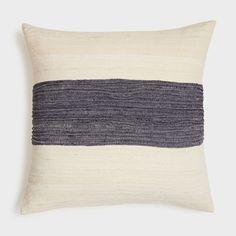 River Stripe Cotton Pillow | DARA Artisans