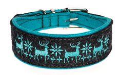 """Ein Gruss aus den hohem Norden: Besticktes Halsband """"Alaska"""". Breite ca. 4 cm, in zahlreichen Farbkombinationen erhältlich."""