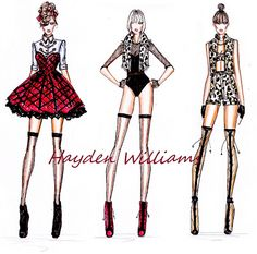 Rihanna: Talk That Talk tour idea sketches by Hayden Williams. by Fashion_Luva, via Flickr
