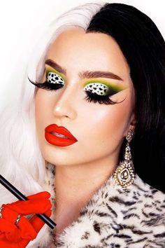 Girl Halloween Makeup, Amazing Halloween Makeup, Halloween Makeup Looks, Halloween Kostüm, Halloween Costumes, Barbie Makeup, Disney Makeup, Helloween Make Up, Spider Makeup