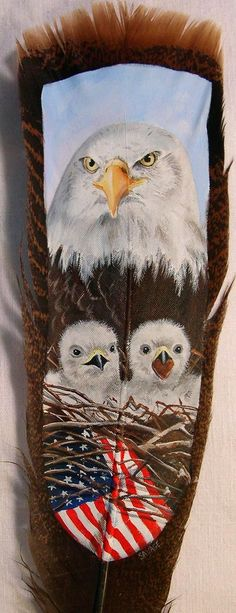 Turkey Feather Art Bald Eagles