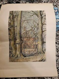 """<p dir=""""ltr"""">W.G. Hofker 1954 Duvenvoorde RARE print Holland. Shipped with USPS Priority in a print tube.</p> <p dir=""""ltr"""">Amazing rare Hofker print..... with months of research no other print matches this. There are some obvious creases and small tears on the edge. Overall still a great piece of art work. </p> <p dir=""""ltr"""">Flat rate $15 shipping. </p> Wood Picture Frames, Picture On Wood, Ebay Paintings, Holland America Cruises, Gold Wood, Poster Prints, Art Prints, Flat Rate, Botanical Prints"""