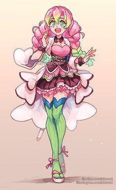 """💕Kimetsu no Yaiba Magical AU💕 Mitsuri is one of my favourite characters, so I really wanted to draw her. I feel that she has magical girl energy as well as it works quite well with her aesthetics. Anime Girl Neko, Chica Anime Manga, Kawaii Anime, Anime Art, Anime Angel, Anime Demon, Caulifla Hot, Character Art, Character Design"