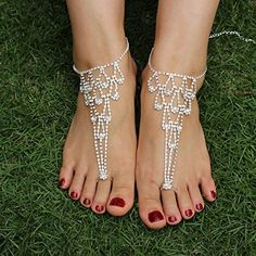 SweetM 2pc Rhinestone Barefoot Sandals Bridemaids Wedding Jewelry Toe Ring Anklets, http://www.amazon.com/dp/B00YA7UAGS/ref=cm_sw_r_pi_awdm_jqf9vb14WG9ZD