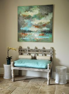 Love the chair, which is very Indian in its vibe and they also have my current favorite colour.