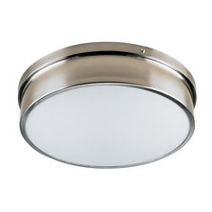 Russel:residential and commercial lighting - Ceiling Fixtures, Ceiling Lights, Hall Lighting, Commercial Lighting, Flush Mount Ceiling, Chrome, Glass, Red Deer, Laundry Room