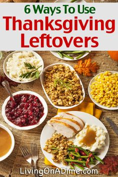 Here are 6 easy ways to use Thanksgiving leftovers so you don't waste anything! Save money and get the most out of your food budget!