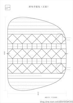 [转载]【影子手绘】拼布手提包&山茶花手提包<wbr>图纸