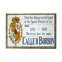 Rue Bourbon Tiles Rectangle Magnet on CafePress.com