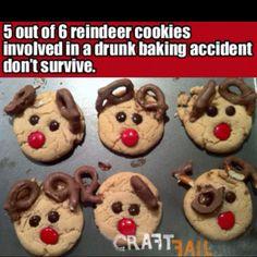 reindeer cookies - so cutes