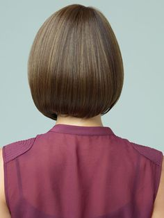 A-line Bob (rear view) Short Hairstyles for Round Faces