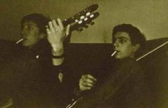 Unreleased pic of Syd and Roger, 1965. Source: rarepinkfloyd at Late Night.
