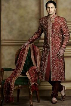 A sherwani gives the aura of royalty