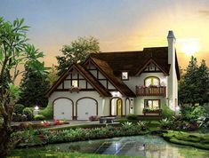 European Cottage Design You Have To See. When you agree to lease a cottage through an agency there's typically a formal agreement that should be agreed before the transaction happens. Cottage Floor Plans, Cottage Style House Plans, Bungalow House Plans, Cottage Style Homes, Cottage Design, Cottage Ideas, Diy Disney, Bedroom Minimalist, Ikea