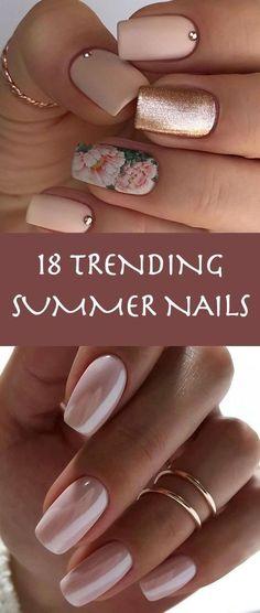 18 Trending Summer Nail Designs 2018. big name in nail polish