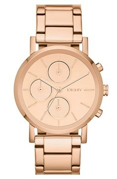 DKNY Mirror Dial Chronograph Bracelet Watch, 38mm available at #Nordstrom