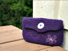 easy knitting for beginners purse