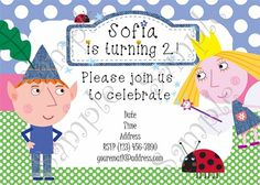Ben and Holly's Little Kingdom, Ben and Holly's Little Kingdom Invitation, Ben and Holly's Little Kingdom Birthday, Ben and Holly's Little Kingdom Party, Fairy Birthday, Fairy Invitation, Ben and Holly, Ben and Holly Party, Ben and Holly Birthday, Ben and Holly Invitation