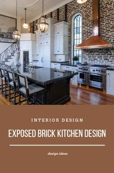 Exposed Brick Kitchen Design >> >> >> Hay the design, Look at some decorating techniques for h. Best Interior, Kitchen Interior, Home Interior Design, Kitchen Design, Exposed Brick Kitchen, Kitchen Inspiration, Food Preparation, Kitchen Lighting, Design Ideas
