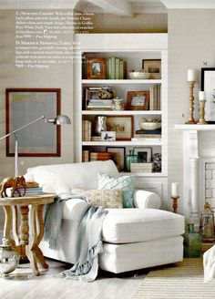 25 Relaxing and Cozy Reading Corners | Crab trap Chaise lounges and Shabby : reading chaise - Sectionals, Sofas & Couches