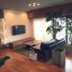 Interior Living Room Design Trends for 2019 - Interior Design Living Room Tv Wall, Zen Furniture, Home Layout Design, Home Room Design, Minimalist Interior Design, Interior Design, House Interior, Interior Architecture, Room Interior