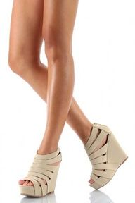 Strappy wedges