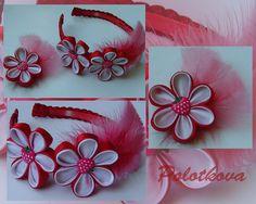 Kanzashi flowers handmade headband & hairclip