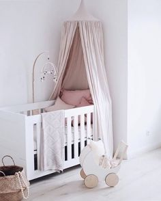 How gorgeous is this little girl's room by @lightpoem_mama 👈🏻 Ooh Noo Toy Pram available in our online store 💫 . #kidsroom #kidsroomdecor #nordichome #nordicinspiration