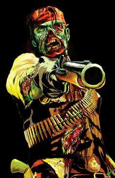 undead nightmare  Fan Art   RDR undead nightmare zombie john Marston render by *leonkennedyfan1 on ...
