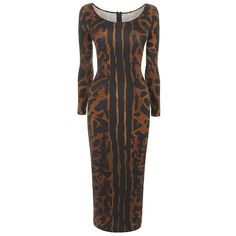 ocelot print jersey pencil dress // alexander mcqueen