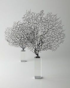 Two Corrine Coral Sea Fan Sculptures by Arteriors at Horchow.