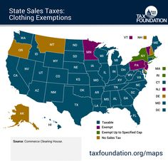 Map: State Sales Taxes and Clothing Exemptions | Tax Foundation