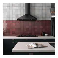 Italian Tiles for Kitchen . Italian Tiles for Kitchen . Red Kitchen, Black Kitchens, Kitchen And Bath, Kitchen Decor, Kitchen Office, Kitchen Backsplash Images, Kitchen Wall Tiles, Burgundy Living Room, Burgundy Room