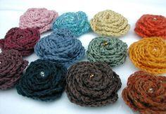 crochet flowers - no pattern