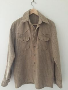 Small Vintage Custom Wool Western Shirt by CafeMotique (29.00... #CafeMotique #ColoradoSprings #vintagelifestyle #caferacer #vintagemoto