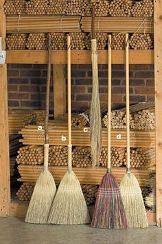 Handmade natural bristle broom - quite lovely - no plastic involved