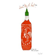 True Love Print - Sriracha, I Love You Collection / Josh LaFayette