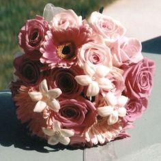Unique bridesmaid bouquet ideas?? :  wedding bridesmaid bouquets unique ideas Pink Rose Gerbera Daisy Lg