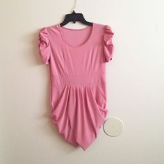 NWOT Beautiful Pink Dress This dress is so pretty on! And the color is a perfect pink to wear this summer. Never worn. :) Dresses