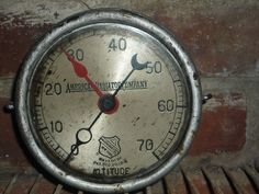 steampunk american radiator co the ashcroft co altitude pressure gauges ny #Ashcroft