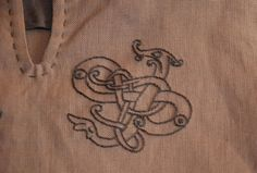 Viking baby tunic with embroidery.(2) - Othala Craft