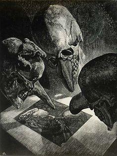 VICTOR DELHEZ Belgian, (1901-1985). Rejected, Wood engraving, 1941.